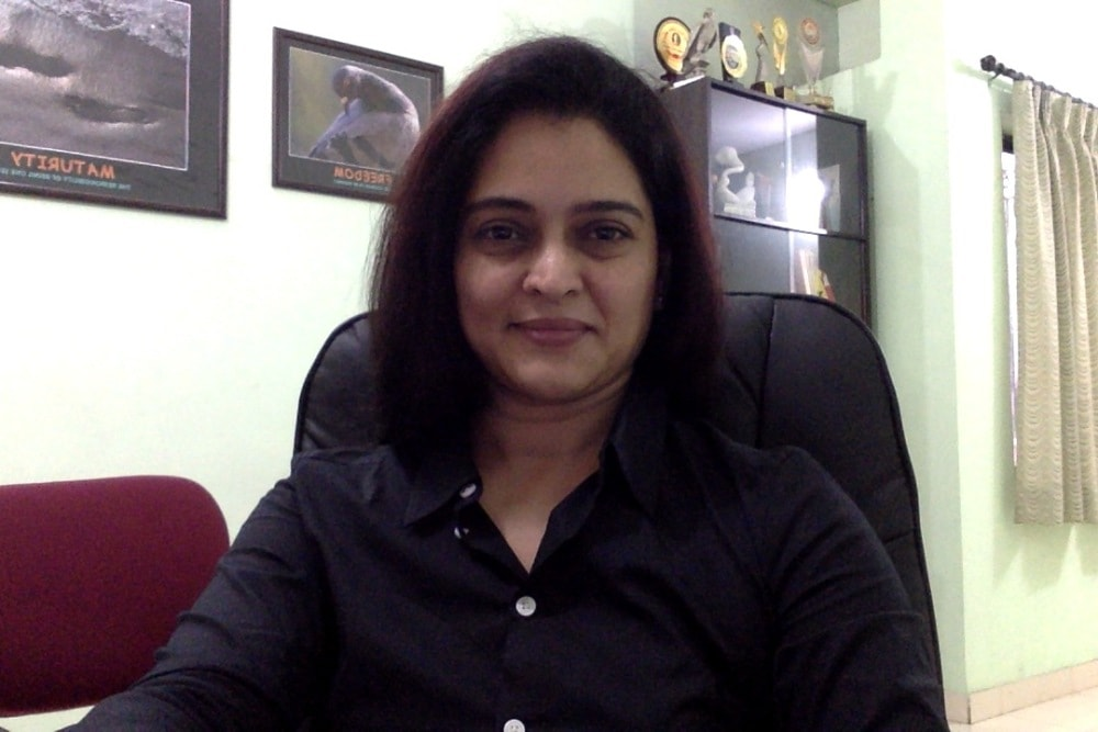 Dr. Sapan at her office