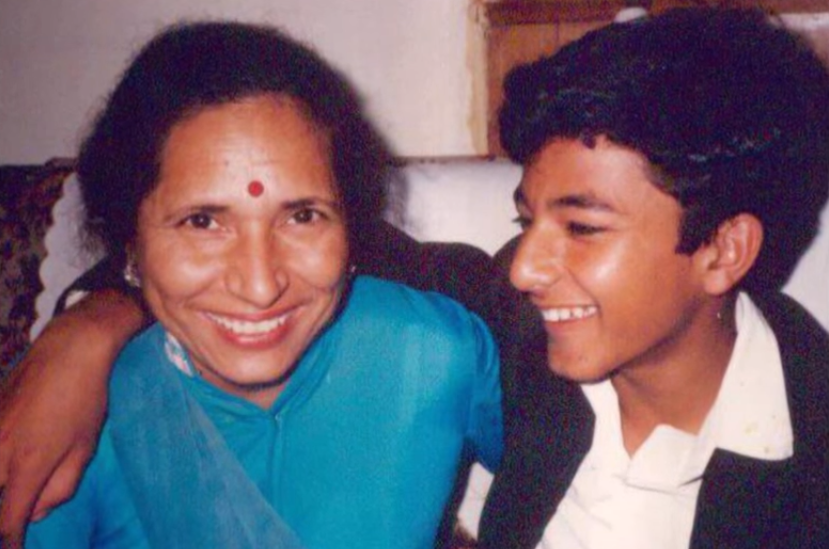 Vikas Khanna with his mother in Amritsar