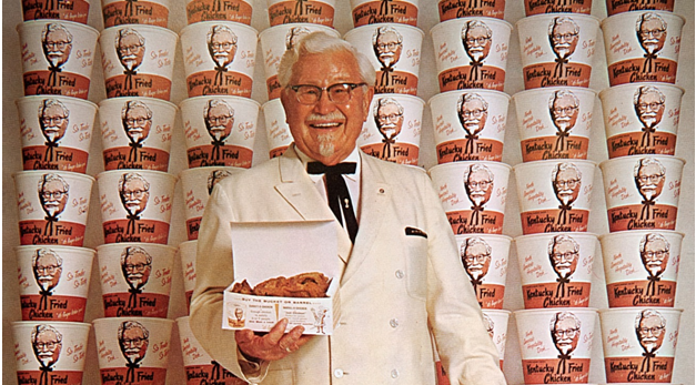 Colonel Sanders as the face of the KFC brand. (1965)