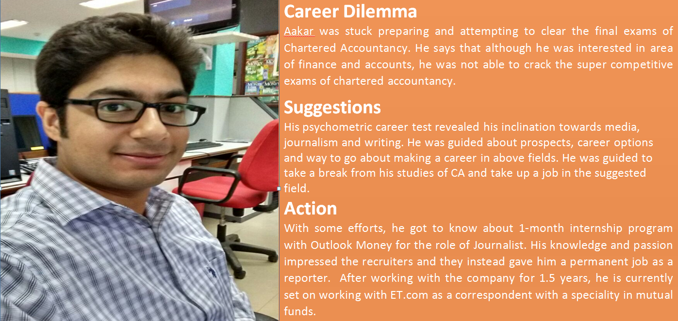 Career Guidance Helped Aakar