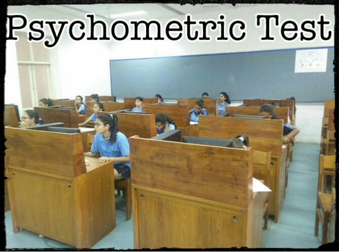 Mody School girls take the Psychomteric Test