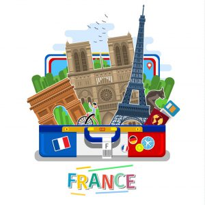 Concept Of Travel Or Studying French Vector 13556531