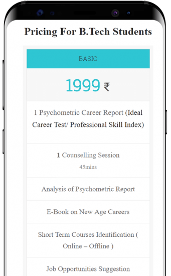 Basic Career Counselling for B.Tech